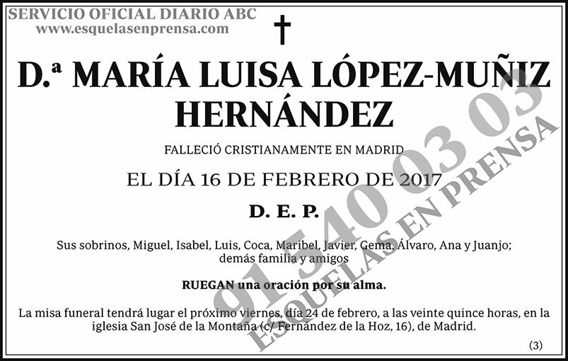 María Luisa López-Muñiz Hernández